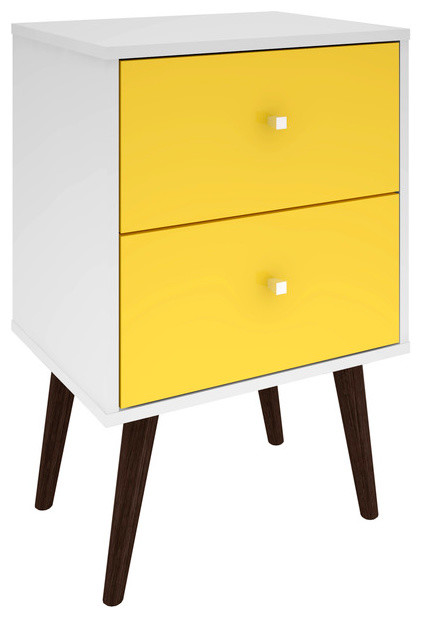 Liberty Mid Century Modern Nightstand 2 0 Midcentury Nightstands And Bedside Tables By Manhattan Comfort