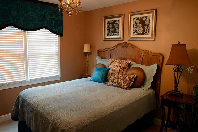 Turquoise and Brown Guest Bedroom mediterranean bedroom. Turquoise and Brown Guest Bedroom   Mediterranean   Bedroom