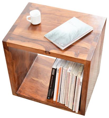 Module cube en bois de palissandre kwarto contemporain - Table appoint salon ...