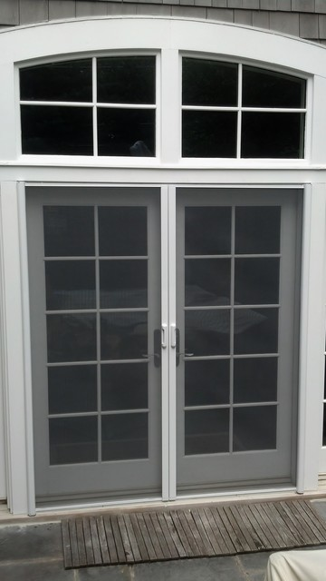 Mirage retractable door screens french double doors for Retractable screen door for double french doors