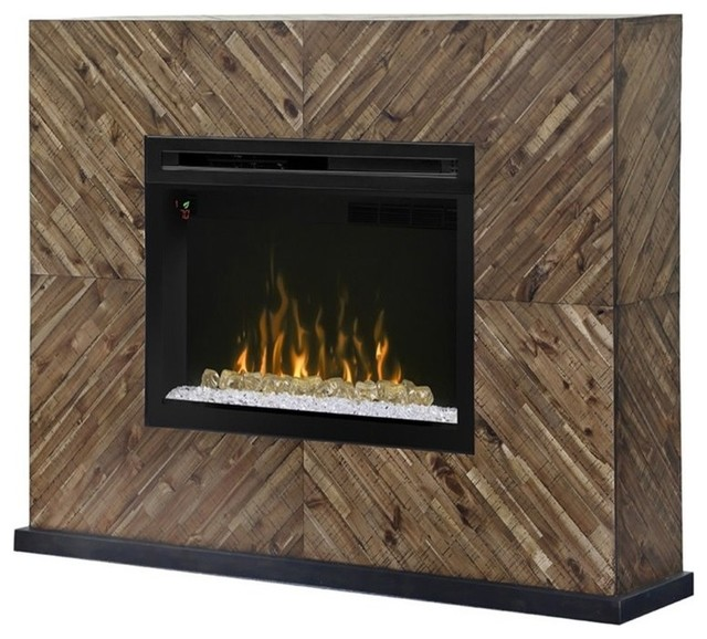 dimplex harris electric fireplace mantel acrylic in cassia traditional - Electric Fireplace Mantels