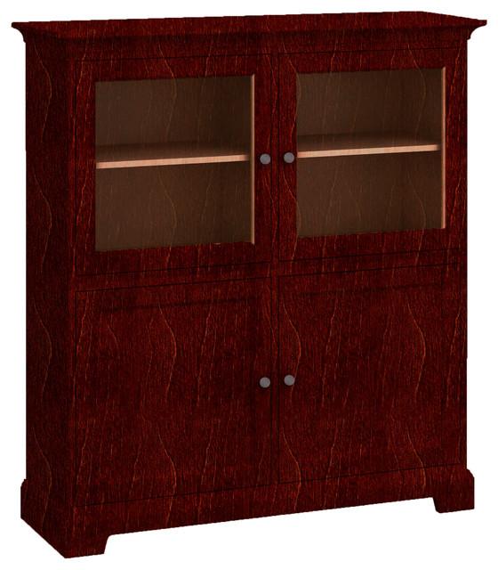 Howard Miller Howard Miller Custom Storage Cabinet 2 Glass Doors 2 Wood Doors Storage