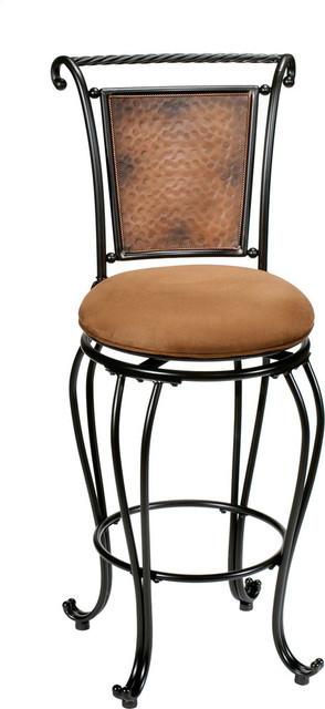 "Hillsdale Milan 26"" Swivel Seat Counter Stool in Copper"
