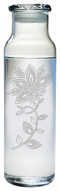 Flower Tattoo Water Bottle.