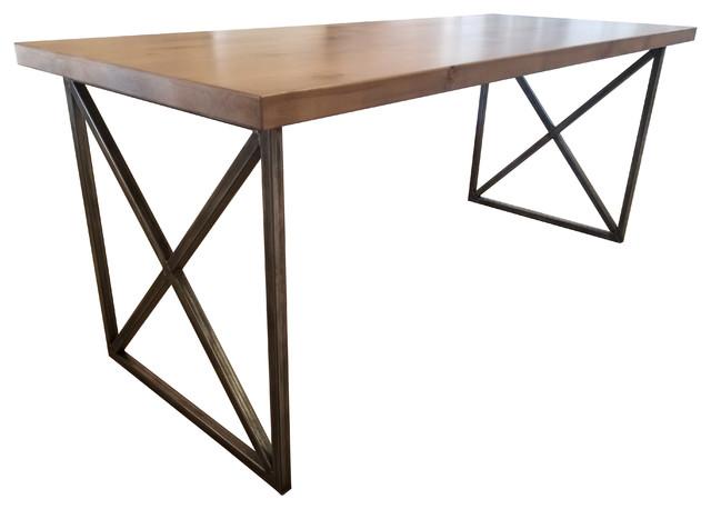 "Contemporary Writing Desk, Tuscany Finish, 84""x30""x30""."
