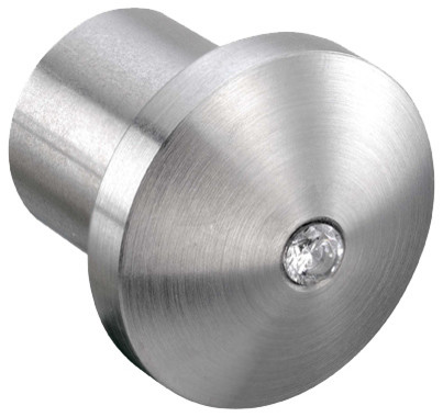 Crystal Steel Cabinet Knobs, Satin - Modern - Cabinet And Drawer Knobs - by COOL LINES USA