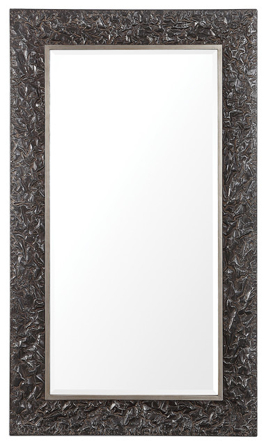 Axel Textured Steel Large Mirror Rustic Wall Mirrors By Ownax