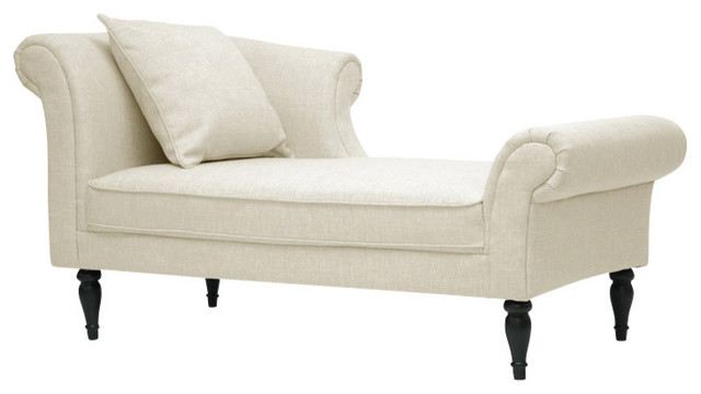 Baxton Studio Lucille Beige Linen Victorian Chaise traditional-indoor-chaise -lounge-chairs  sc 1 st  Houzz : victorian chaise lounge - Sectionals, Sofas & Couches