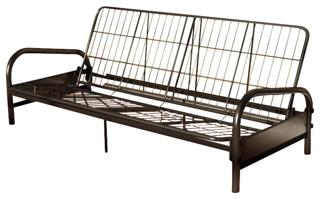 Vermont Metal Futon Frame In Black Contemporary Frames