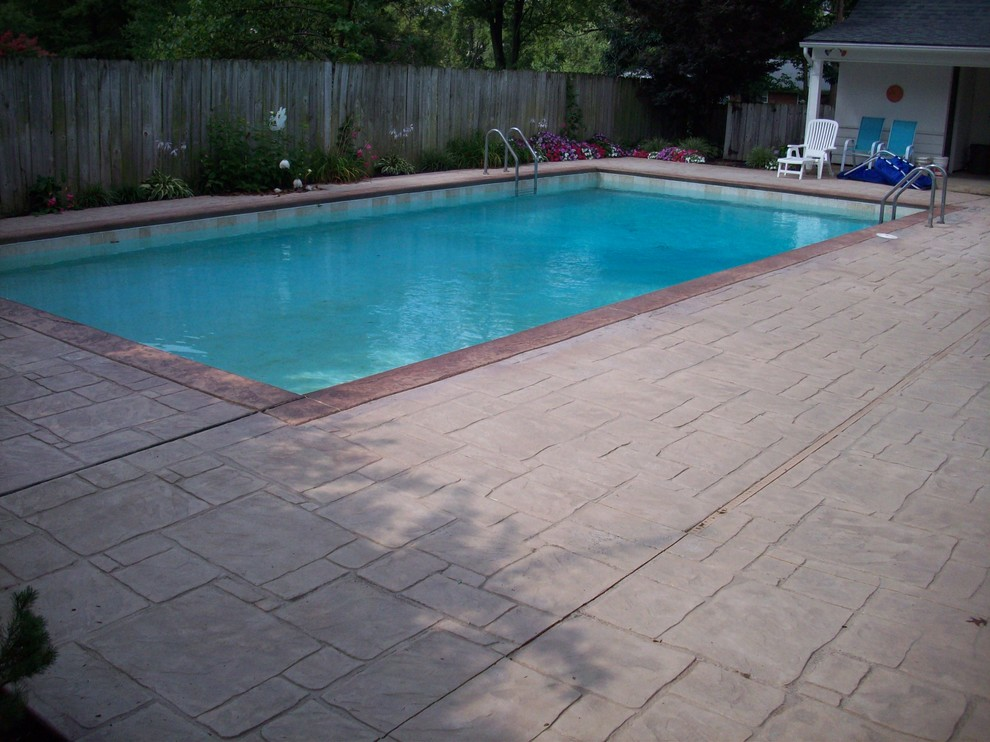 Town & Country, Missouri Stamped Concrete Pool Deck