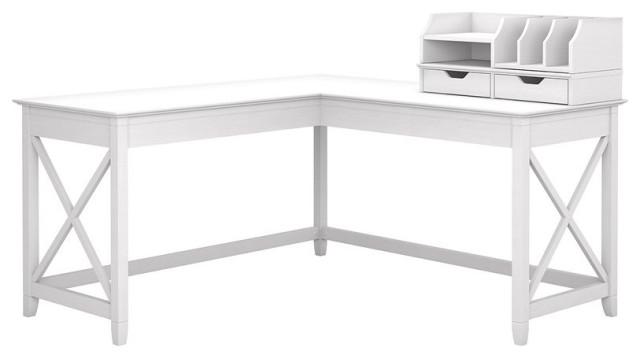 Bush Furniture Key West 60W L Shaped Desk with Desktop ...