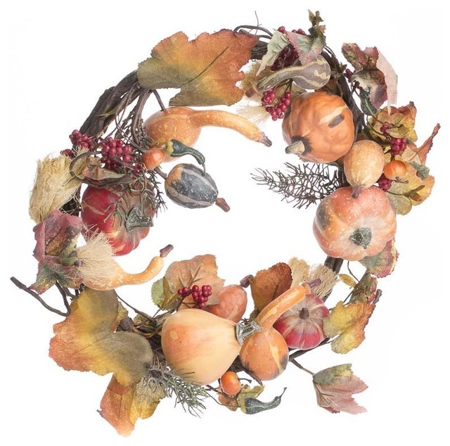 Gourd And Berry Wreath.