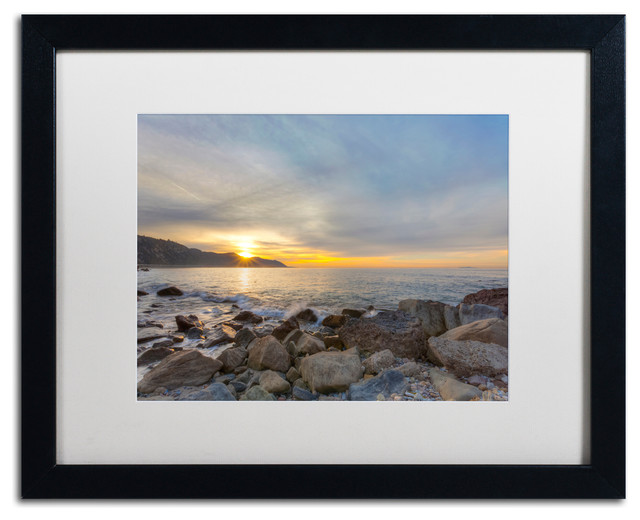 Breaking Day Matted Framed Canvas Art By Chris Moyer