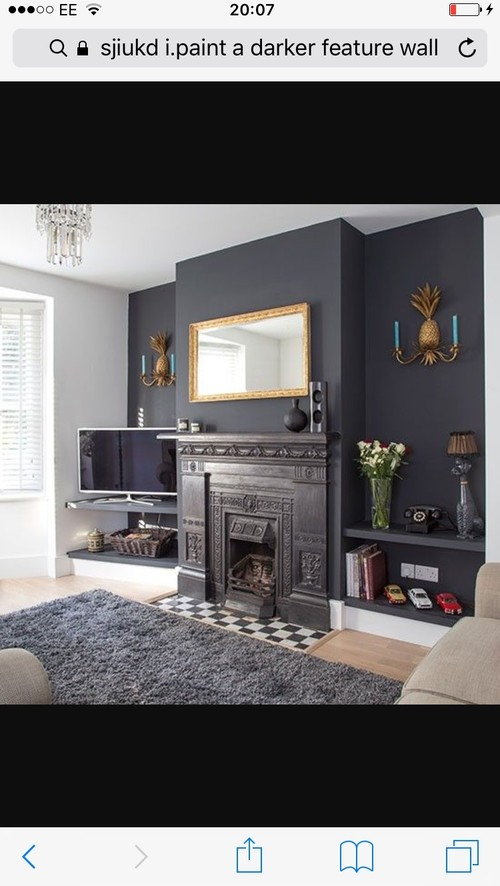 Dark grey feature wall?