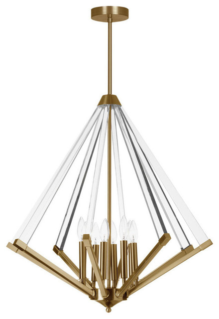 Altera 8-Light Chandelier With Acrylic Arms, Vintage Bronze