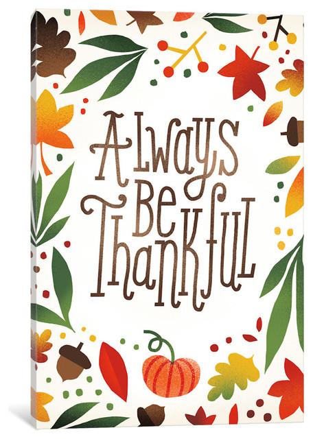 """always Be Thankful"" By Michael Mullan, Canvas Print, 40x26""."