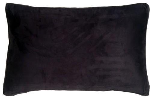 "Pillow Decor, Box Edge Royal Suede Midnight Blue Throw Pillow, 14""x22"""
