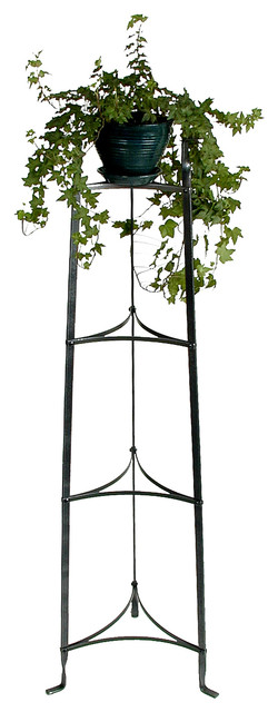 4 Tier Plant Stand Hammered Steel.