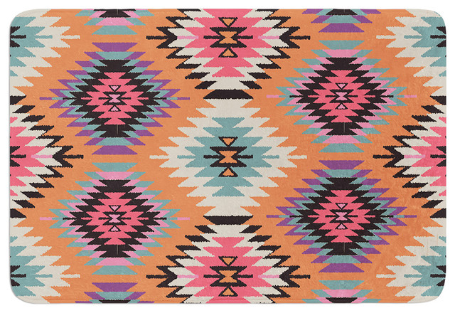Amanda Lane  Navajo Dreams  Orange Pink Memory Foam Bath Mat  36 x24. Amanda Lane  Navajo Dreams  Orange Pink Memory Foam Bath Mat  17
