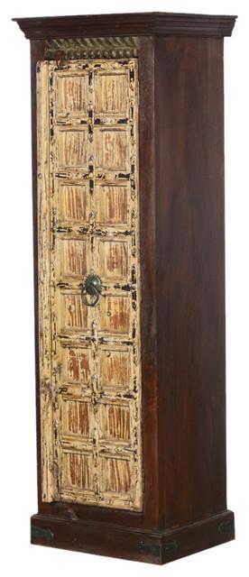 Nottingham Winter Mango And Reclaimed Wood Armoire Wardrobe Cabinet
