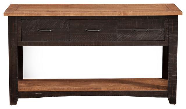 Pleasing Martin Svensson Home Rustic Sofa Console Table Antique Black Honey Tobacco Ibusinesslaw Wood Chair Design Ideas Ibusinesslaworg