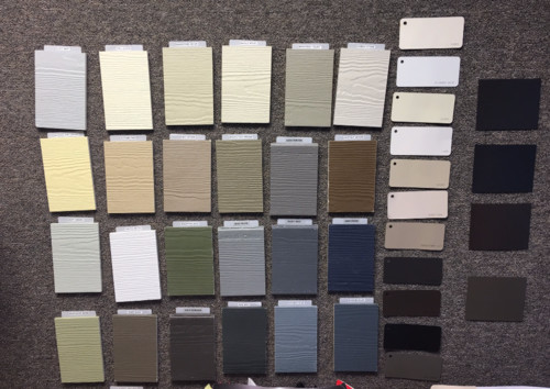 hardie board colors canada palette brick and color combinations here part country your area differ also shown gutter metal standing seam roof