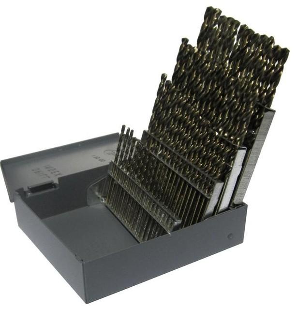 1 - 60 Cobalt Steel Jobber Drill Bit Set, 60 Pieces, D/a60j-Co-Set