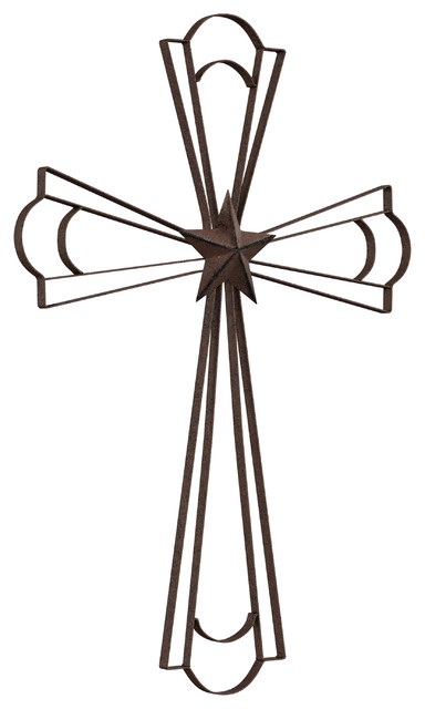Rustic Distressed Metal Wood Cross Wall Art Sculpture Butterfly Decor Home Gift