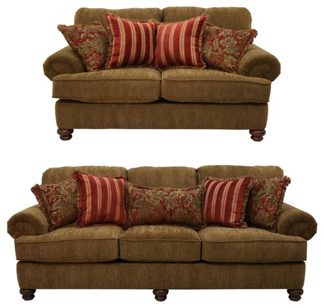 Jackson Furniture Belmont Living Room Set, Umber