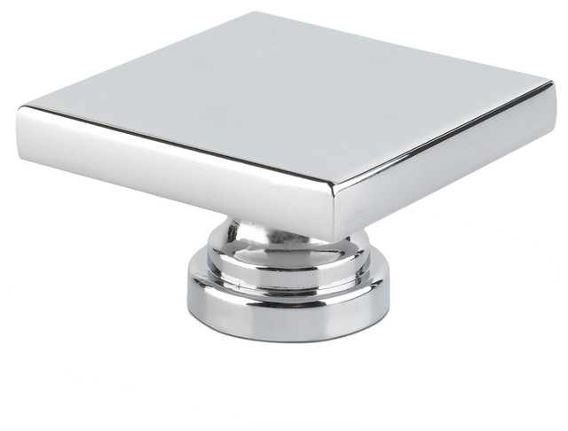 Topex Large Square Knob Bright Chrome