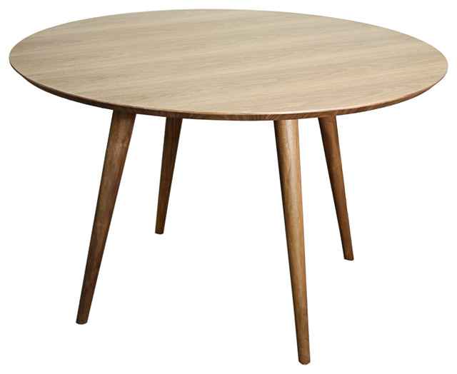 Bradshaw Round Table Walnut Midcentury Dining Tables By New Pacific Di