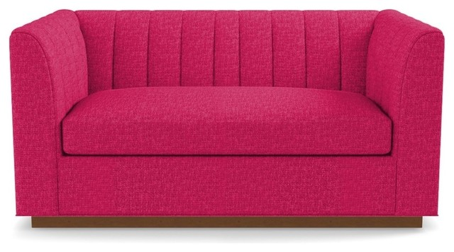 "Nora Apartment Size Sofa, Pink Lemonade, 74""x37""x32"""