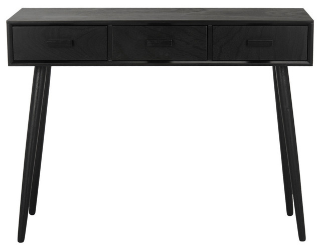Safavieh Albus 3-Drawer Console Table, Black.