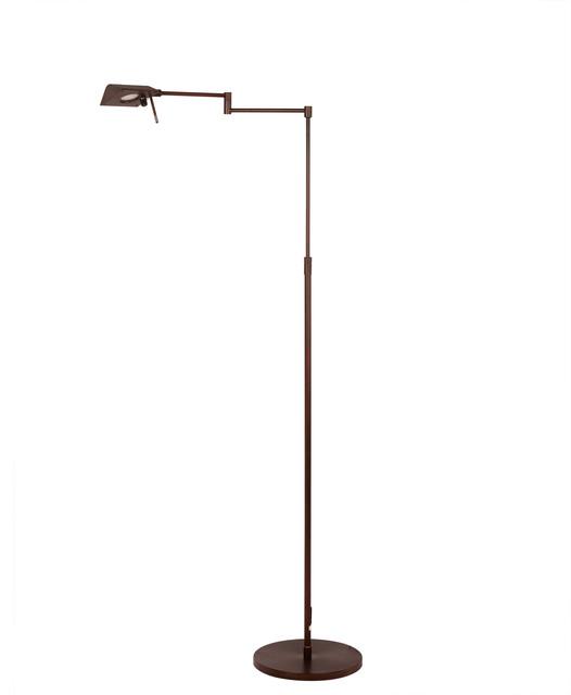 """Fangio Lighting 53.75"""" Adjustable Metal Floor Lamp, Oil Rubbed Bronze"""