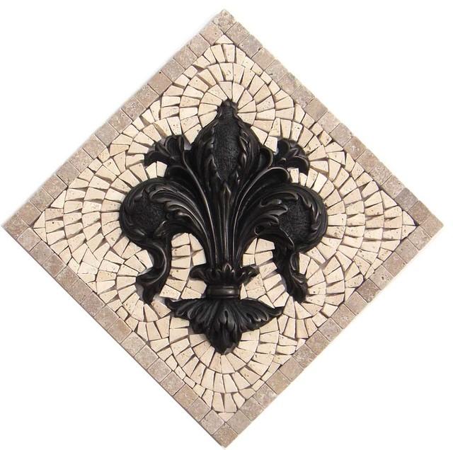 Fleur De Lis Kitchen Backsplash Mosaic Tile And Metal