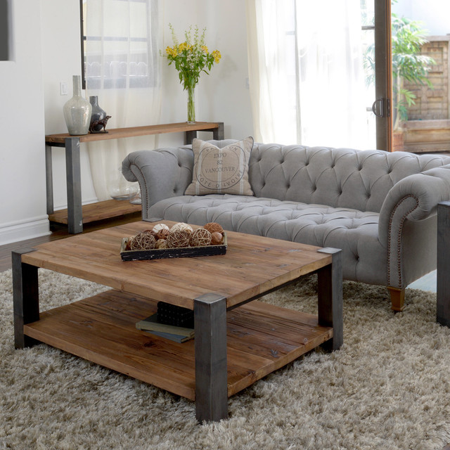 Willow Iron Leg Coffee Table Contemporary Coffee Tables By