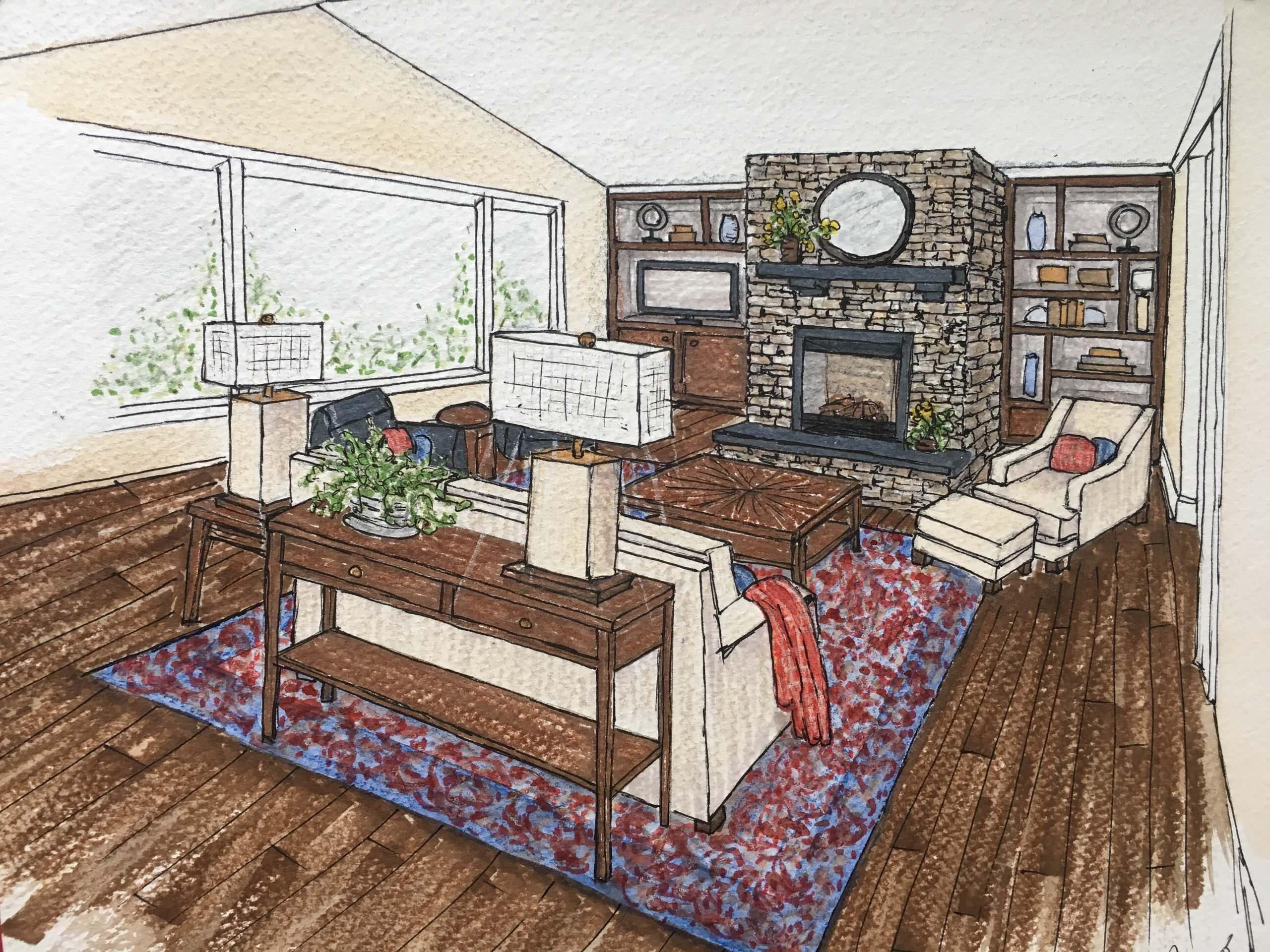 Sarro Design Rendering of cabinet project