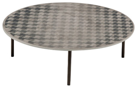 Fish design market large pied de poule coffee table for Pied de table design