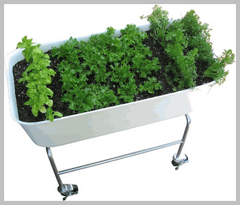 Rolling Patio Vegetable Planter traditional outdoor planters