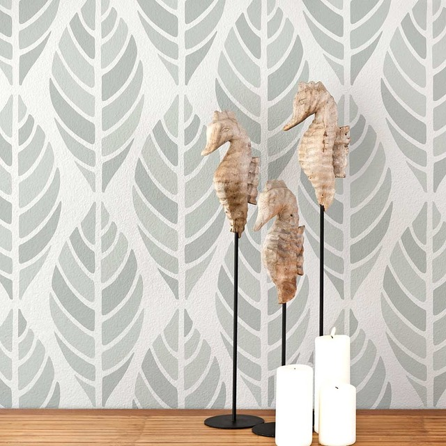 Leaves Allover Stencil Stencils For DIY Wall Decor Home
