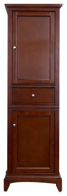 """Eviva Elite Stamford 24"""" Brown Solid Wood Side/linen Bathroom Cabinet."""