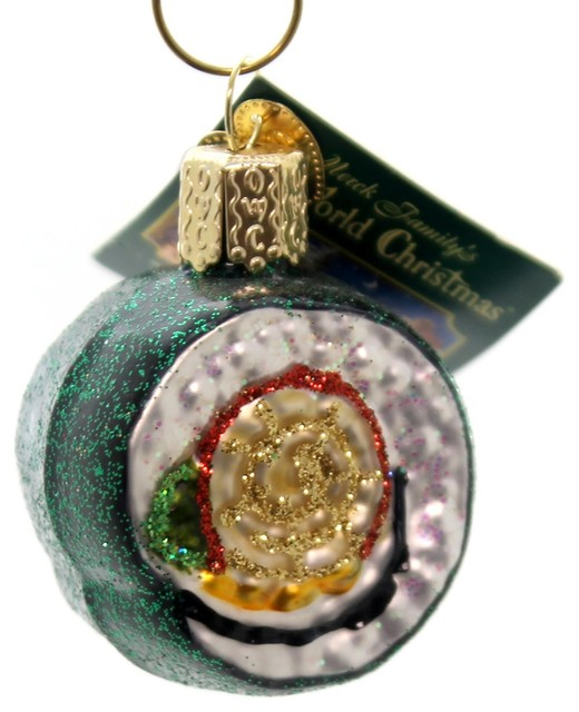 Old World Christmas Sushi Roll Glass Ornament Fish 32110 - Old World Christmas Sushi Roll Glass Ornament Fish 32110