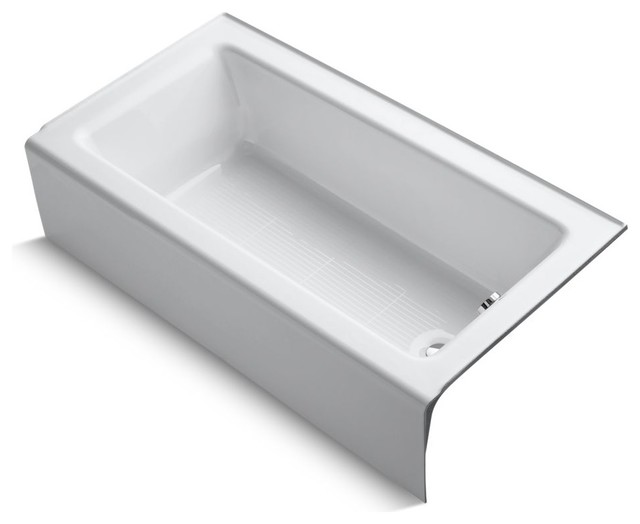 "Bellwether 60""x32"" Alcove Bath With Integral Apron And Right-Hand Drain, White."