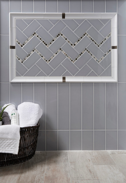Gray Subway Tile Kitchen Backsplash