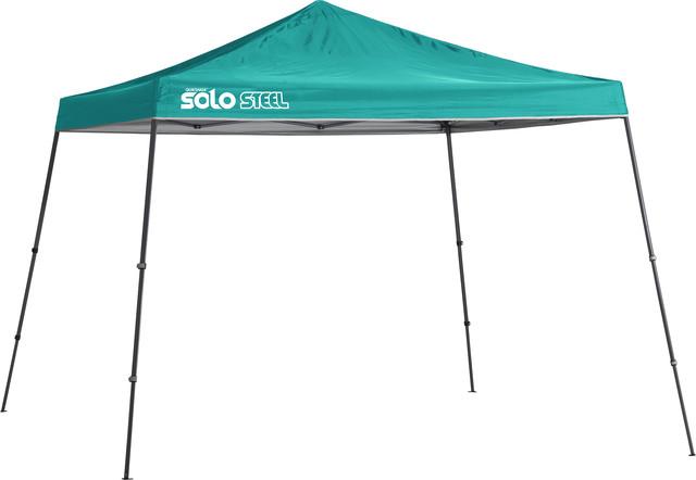Solo Steel 90 11&x27;x11&x27; Slant Leg Canopy, Turquoise.