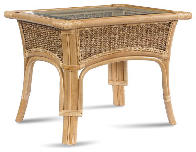 Rattan Coffee Table: Tropical Breeze