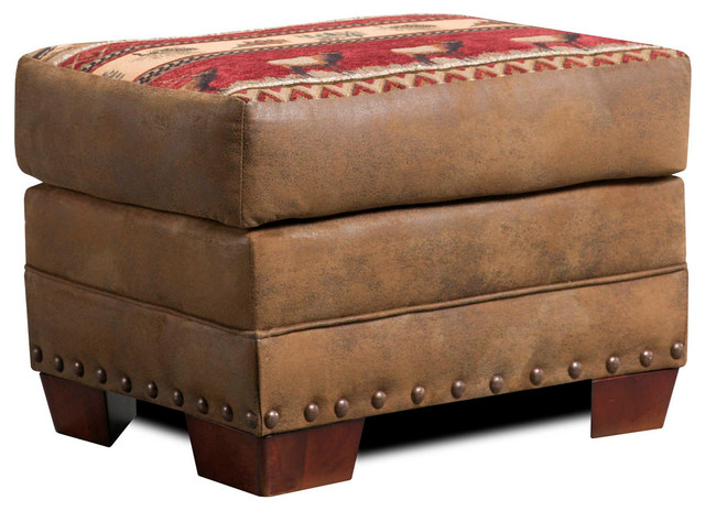 Sierra Lodge Ottoman Southwestern Footstools And Ottomans By American Furniture Clics