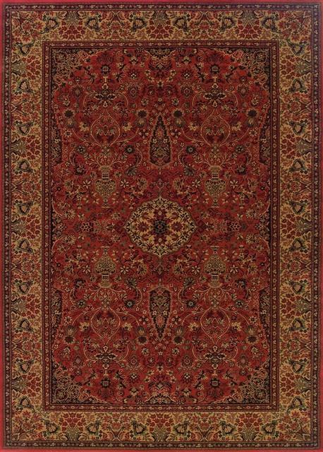 Couristan Everest Ardebil Area Rug, Crimson, 2&x27;7x7&x27;10 Runner.