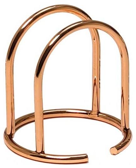 Napkin Holder, Modern Copper.