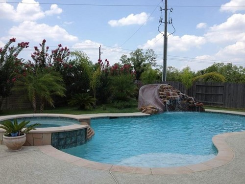 Houston swimming pool build 2012 for Pool designs under 30000